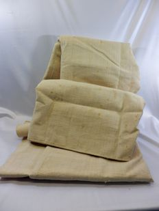 Pure linen, big piece - 280x200cms, very heavy 2,6kg - 19th century