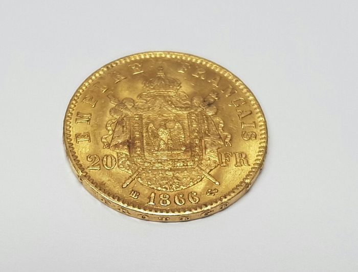 Golden bullion coinNapoleon 20fr