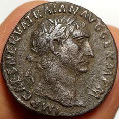 Roman Empire - Trajan  (98-117) AE As, Rome, Victoria
