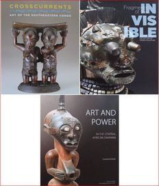 3 Books : Crosscurrents - Art of the Southeastern Congo  &  Fragments of the Invisible  &  Art and Power