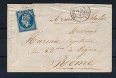 France 1860 - Fougeres Illes-et-Vilaine for the Army of Italy no.14