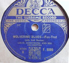 JAZZ, DIXIE, BLUES and SWING 78 rpm records o.a Benny Goodman, Louis Armstrong, Glenn Miller, Nat King Cole