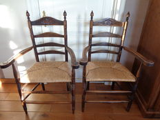 Two antique armchairs - The Netherlands - early 1900s