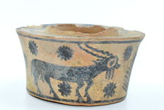 Indus Valley Painted Terracotta Bowl with Goats - 95 mm