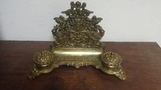 Large ink-set of brass in Louis XIV style-France-1910