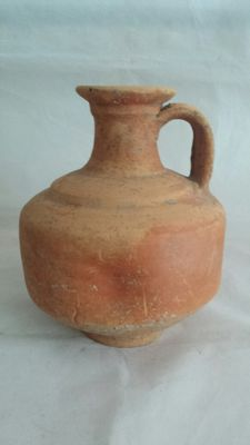 Gallo Roman pottery varnished jar with dent decoration - 180 mm