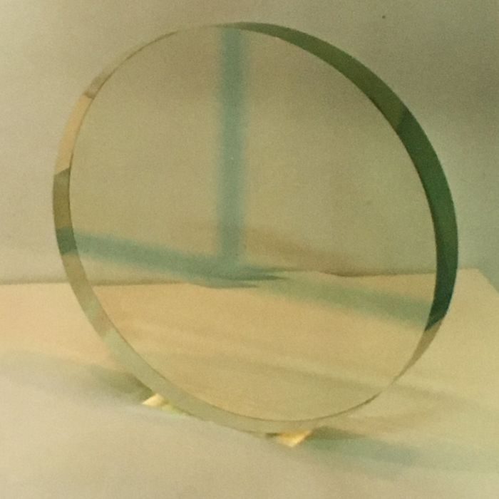 George Broft. - Geometrisch glas object,
