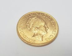 Golden ten-guilder Coin.