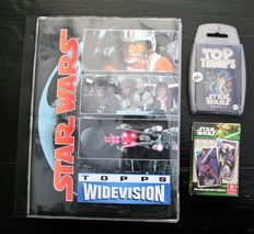 Star Wars: Topps Widevision 1996 in original album, Top Trump,s 2007 and the Clone Wars 2013