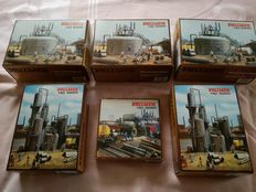 Vollmer H0 - 5520/5525/5526 - 3 horizontal tankers, fuel tank, refinery, oil industry package 6 boxes.