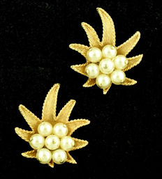 Marcel Boucher vintage  clip earrings new York 1950-1955