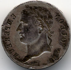France – 1 franc 'Napoleon' – Flawed (obverse included) – Silver