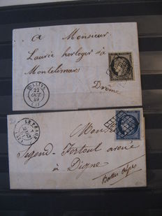 France 1849/1851 - Letter from October 1849, signed Calves, no. 3 and 4