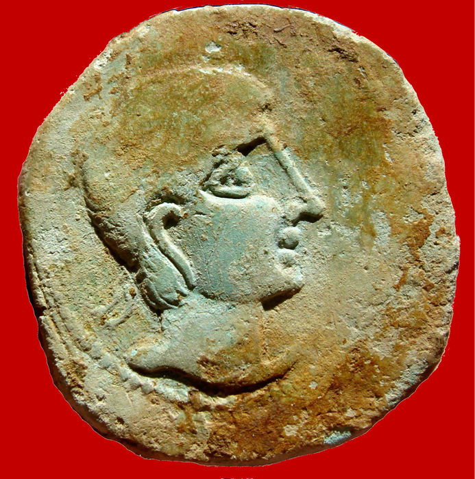 Roman Hispania – Castulo AE as minted in ancient Hispania (Linares, Jaen) in the 2nd century B.C. Toro.