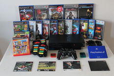 Playstation 2 with 17 games and controller