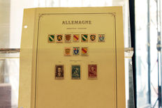 French occupation in Germany – beautiful and complete collection on album pages