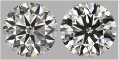 Pair of Round Brilliant Diamonds HVS2 total 1.80 ct EGL USA-1519-1530 -original image 10EX