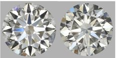 Pair of Round Brilliant Diamonds 1.60 total I SI1  IGI - SEALED - Serial# 1573-1577-original image 10 X