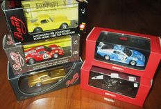 Ixo Models / Bang Model - Scale 1/43 - Lot with 5 models: Ferrari Miscellany BB512, FXX, 250GT SWB, 246GT NART