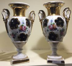 Coalport Dale (?) - Pair of Second Empire porcelain vases