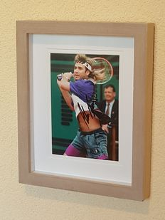Andre Agassi - Tennis legend - original signed old photo + COA