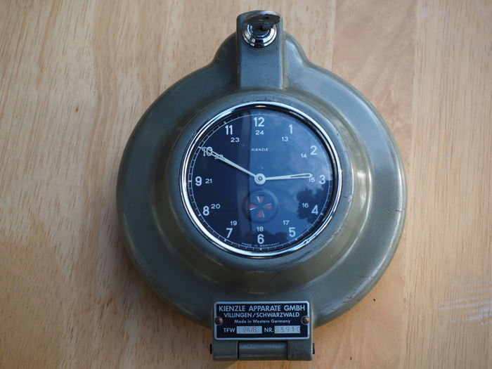Kienzle - classic car truck tachograph with clock - Type TFW 24/8