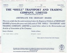 "Nederland - Engeland - Shell ""Shell Transport and Trading Company"" en BP British Petroleum Company (2 stuks)"