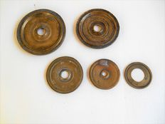 Set bronze, pre-metric Scale weights - Greece - from 1927