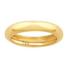 Brand new D-shape wedding band in 18kt yellow gold- Size 54 (EU)