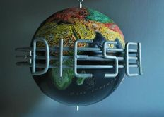 Unique globe of the company Diesel, with edge of recessed metal