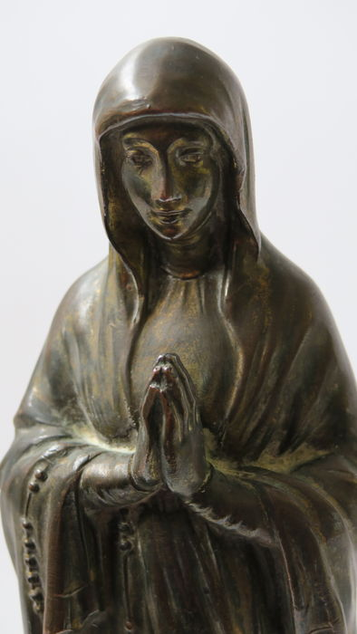 A. Richir (19th/20th century) sculpture 'Santa María Madre de Dios' - France - late 19th century