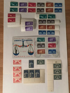 Luxembourg 1951/1956 - United Europe and CECA series