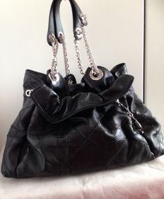 "Christian Dior - Quilted Cannage ""Le Trente"" Drawstring Tote Bag"