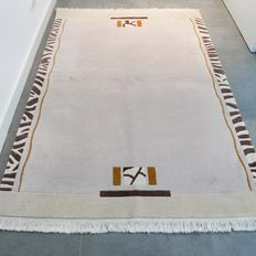 No reserve price, great opportunity: Gorgeous light Nepalese rug, 200 cm x 140 cm, superb quality