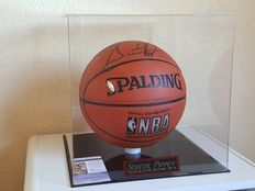 Scottie Pippen - 1992 Olympics Dream Team USA Basketball and Chicago Bulls - original Autographed Basketball in display case + COA JSA