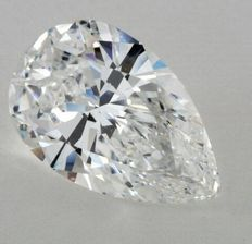 5.73 ct Pear Brilliant Natural Diamond  D IF GIA Lab