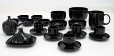 Rosenthal - breakfast set for four persons, model Plus in black, designed by Wolf Karnagel