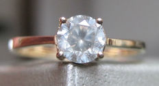 Solitaire Diamond Ring 0.58 ct-14K yellow Gold