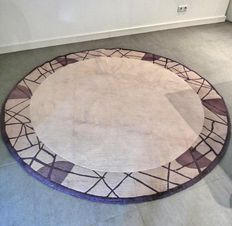Beautiful, thick, round Nepali carpet - 200 cm in diameter - very good condition