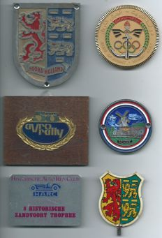 6 Different Car Badges from the 1950-60s