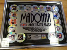 Madonna - 20 Million Sales Award in the UK