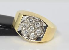 0.56 ct diamond ring in 14 kt gold * no reserve *
