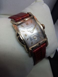 BULOVA  - Art Deco - Swiss made - vintage men's watch - 1955s/1960s - Gold plated