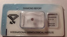 0.21cts  Natural Pinkish Brown Diamond NO RESERVE