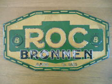 Rare Art Deco original metal advertising sign for 'Roc Bronnen' - Ghent - 1927