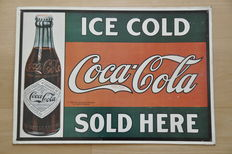 Old advertising sign - Coca Cola - 1993