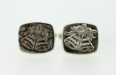 Sterling Silver Bells Cufflinks, Made in London 1997
