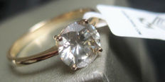 Solitaire Diamond ring 1.15 ct - 14kt gold