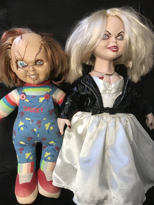 very large doll chucky and his bride tiffany child s play bride