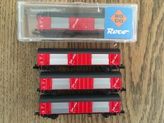 Roco/Arnold N -  4x box cars PTT Post of the NS